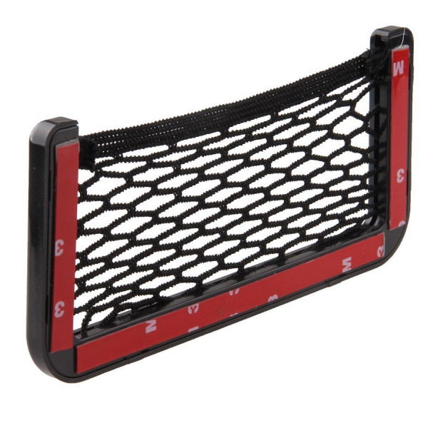 Quality Storage Stick Net Pocket With Hard Black Plastic