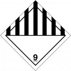 """Etiquetas de sinalização para os transportes internacionais """"materiais e mercadorias perigosas ADR"""