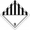 Placa-etiquetas de señalización transporte de mercancías peligrosas ADR