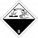 "Plaque-étiquettes de signalisation transport de ""Matières corrosives"" ADR"