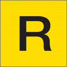 """Etiketten Schilder für die Beförderung von Gütern als Abfall """"R"""" ADR"""