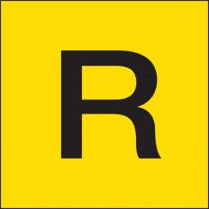 "Placa de advertência transporte de mercadorias de residuos ""R"""