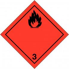 """Placa-etiquetas de señalización transporte de """"liquidos"""