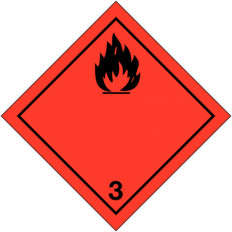 """Placa de advertência transporte de """"líquidos inflamáveis"""" ADR"""