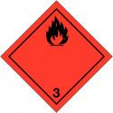 """Placa-etiquetas de señalización transporte de """"liquidos inflamables"""" ADR"""