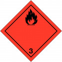 "Labels signage for international transport ""flammable liquid"" ADRS"