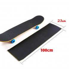 Folha adesiva antiderrapante preta para skate e prancha - 230mm