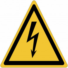 ISO 7010 General Warning Sign for Hazardous voltage inside W012