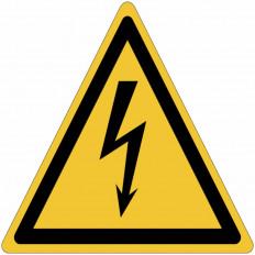 Señales autoadhesivos EN ISO 7010 Peligro eléctrico W012