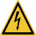 Panneaux adhésifs danger électricité ISO 7010 - W012