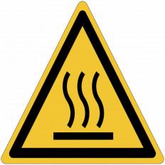 Placa De Símbolo Internacional ISO7010 - Superfície Quente W017