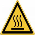 Señales autoadhesivos ISO 7010 Superficie caliente W017