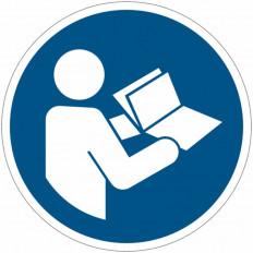 Panneaux autocollants EN ISO 7010 - Consulter le manuel/la
