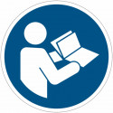 Cartelli adesivi di obbligo ISO 7010 Leggere il manuale di istruzioni M002