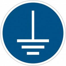 Panneaux autocollants ISO 7010 - Mise à la terre obligatoire