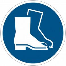 Pictograma adhesivo ISO 7010 - Zapatos de seguridad