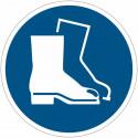 Placa de simbolo internacional IS0 7010 - Use Calçados De Segurança M008