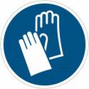 Placa de simbolo internacional IS0 7010 - Luvas de Proteção obligatorias M008