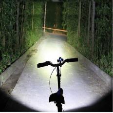 Fahrrad-Taschenlampe mit 5 LED-Lichtstrahl