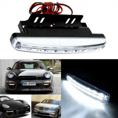 2 light car 6000 k white light 8LED DRL fog