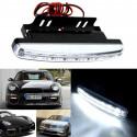 2 light car 6000 k white light 8LED DRL fog