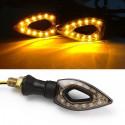 2 12 luzes LED âmbar para piscas de moto