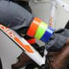 Pulsera reflectante banda o tobillo fluorescente broche de presión