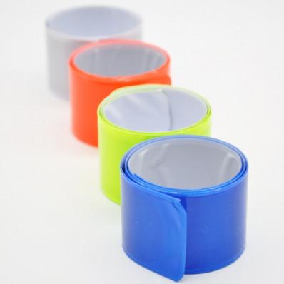 Faixa de pulso refletiva e fluorescente em quatro cores