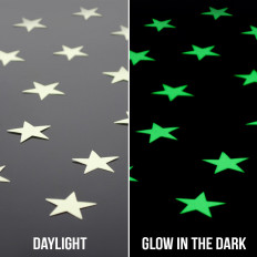 Estrellas adhesivas luminiscentes fosforescentes ilumina las oscuras 3M™ material no tóxico