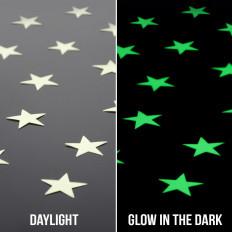 Fosforescentes estrelas adesivas luminescentes ilumina as peças escuras 2,5 cm 28