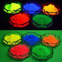 Additif en poudre phosphorescent à base colorée qui s'allume dans le noir en cinq couleurs