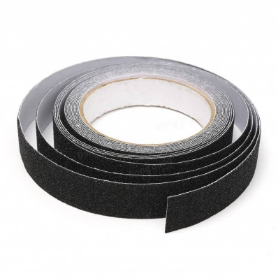 Tiras de láminas adhesivas antideslizantes escaleras exteriores pisos interiores negro 25 o 50 mm