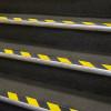 Полосы клейкие пленки желто-черные гусеницы не скользит и полы