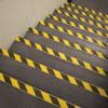 Antiderrapante adesivos filmes sinal listras amarelo/preto escadas exteriores pisos 50mm