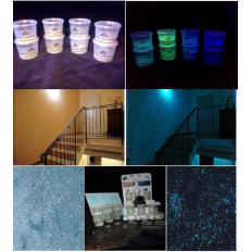 Pellicola nastro adesiva luminescente fosforescente si illumina al buio glow in the dark