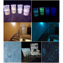 Aditivo en gránulos de vidro fotoluminiscente que brilla en la oscuridad para pintura de paredes