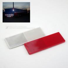 2 catadióptricos adhesivos de plástico rígido en 2 colores