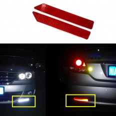 10 adhesive strips protective reflective Diamond grade car truck 30 cm X 4,5 cm red/white