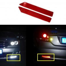 adesivo 10 tiras protetora diamante reflexivo da classe carro caminhão 30 cm X 4,5cm vermelho/branco