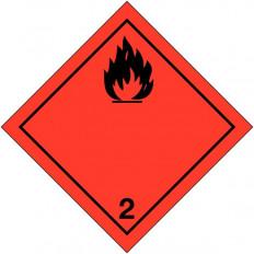 """Placa de advertência transporte de """"gases inflamáveis"""" ADR"""