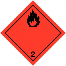 """Labels signage for international transport """"flammable liquid"""" ADRS"""