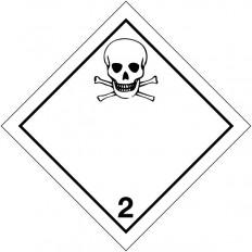 """Placa-etiquetas de señalización transporte de """"gases tóxicos"""""""