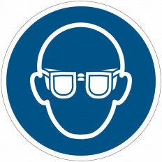 Safety Sign ISO 7010 - Protective Glasses Must Be Worn M004