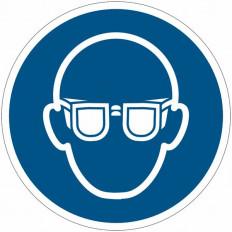 Pictograma adhesivo ISO 7010 - Gafas de seguridad obligatorios