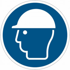 Safety Sign ISO 7010 - Protective Helmet Must Be Worn M008 Shop