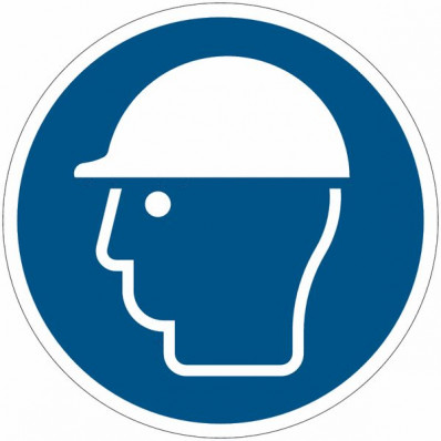 Safety Sign Iso 7010 Protective Helmet Must Be Worn M008 Shop Online