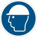 Pictograma adhesivo ISO 7010 - Casco de seguridad obligatorios M008