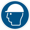 Pictograma adhesivo ISO 7010 - Casco de seguridad obligatorios