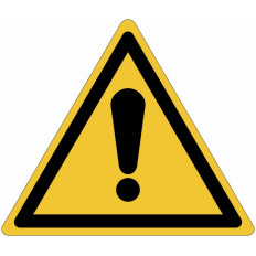 ISO 7010 Warning Sign for General Danger W001