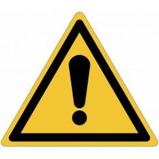Panneaux adhésifs danger générale ISO 7010 - W001 vente en